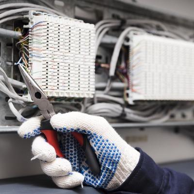 Instalação elétrica parcial comercial