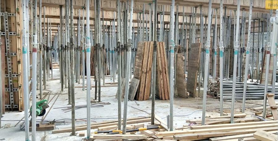 Fundação com estacas de concreto