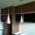 Armário superior cozinha - Portas de vidro pintado