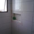 banheiro revestido com rv artico white lux 30x60 Portinari