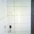 banheiro revestido  de corado