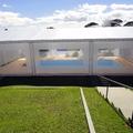 Cobertura em lona para piscina com fechamento lateral