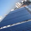Coletor solar a vácuo vista superior
