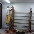 Construção de arquivo em alvenaria.