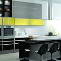 Cozinha Com Vidros Amarelos