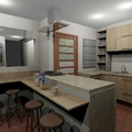 cozinha personalizada  sob medida tipo americana