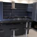 Cozinha planejada com vidro