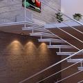 Escada e corrimão modelo 4 tubos