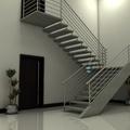 Escada Reta em ´´U`` com viga lateral