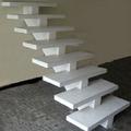 escadas de concreto com viga central