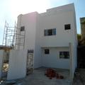 Fachada de edificação bifamiliar