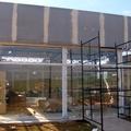 Fachada em construção de Stand de vendas de condominio