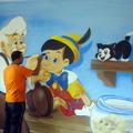 grafite em quarto infantil