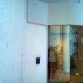 Guarita Detalhe em ACM branco na parte superior.
