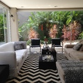 Sala de Estar interagindo com o jardim