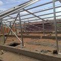 Montagem de pé direito cobertura steel frame