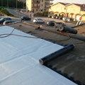 Aplicaçao de manta asfaltica aluminiza.