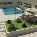 Projeto de piscina e paisagismo.