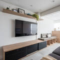 Sala integrada com varanda