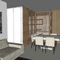 Perspectiva Cozinha Integrada à Sala