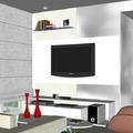Perspectiva Sala apartamento Pituba