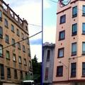 Pintura em prédio comercial - Antes e depois