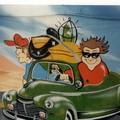 Pintura na fachada de uma Agência de carros
