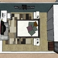 Projeto - Dormitório de Casal com Home Office