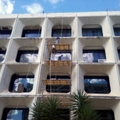 restauração da fachada do mec/brasilia