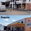 Restauração de fachada Posto Shell