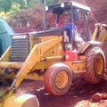 retirada terra para começa  obra....