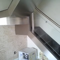 Revestimento de aço inox em escada