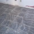 riscando o piso para assentamento piso sobre piso