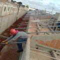 Steel frame cobertura residencial