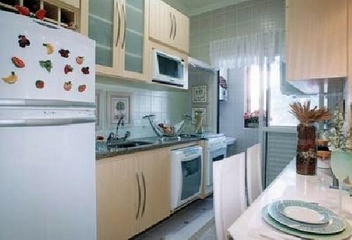 Apto decorado cozinha