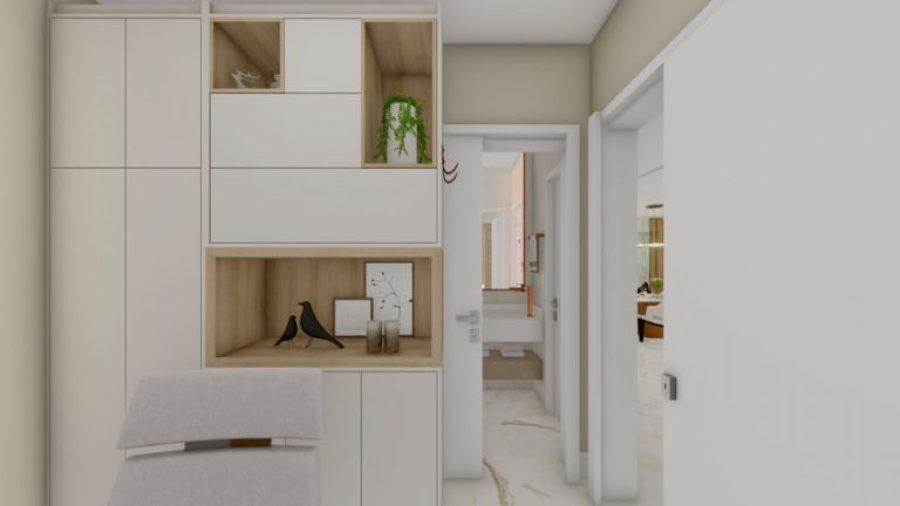 Projeto de Interiores Quarto de Hóspedes e Home Office