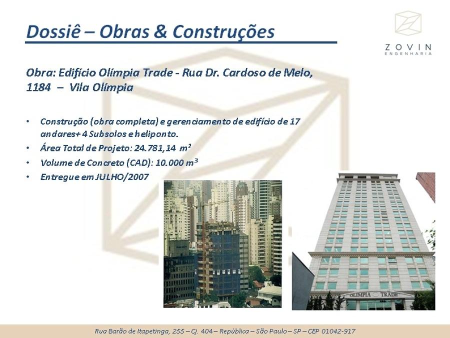 Obra: Edifício Olímpia Trade