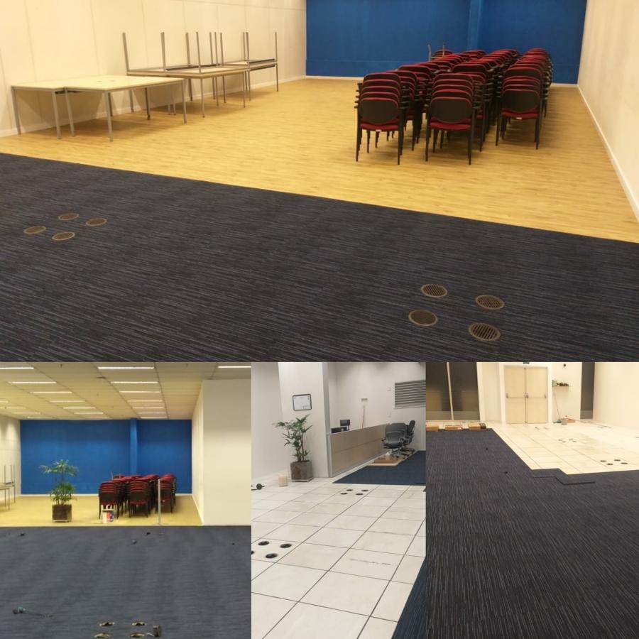 Colocação de piso vinílico e carpetes