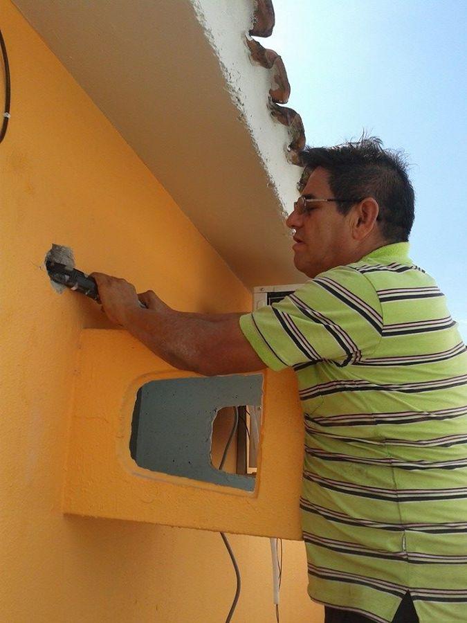 Instalação de condicionadores de ar split.
