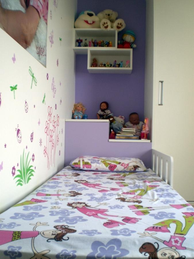 Quarto criança, com cama, nicho e guarda roupa