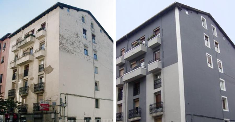 Reforma em prédio residencial - Antes e depois