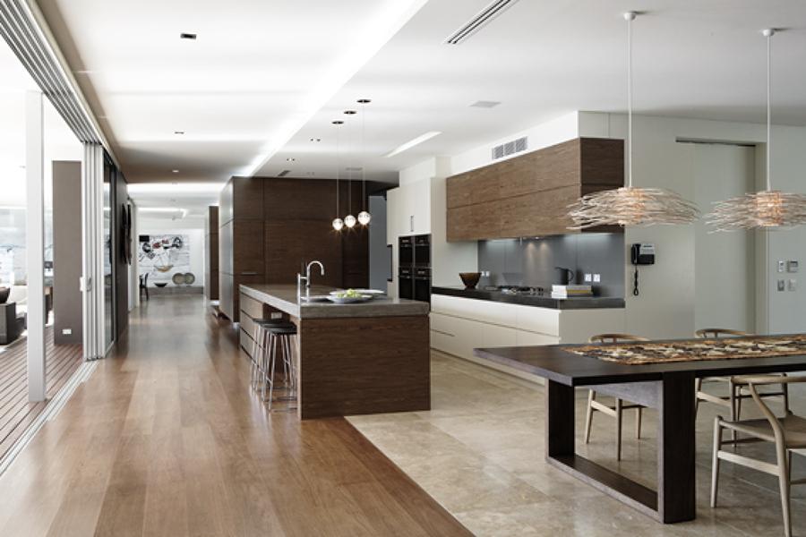 Área gourmet integrada a cozinha e área de lazer
