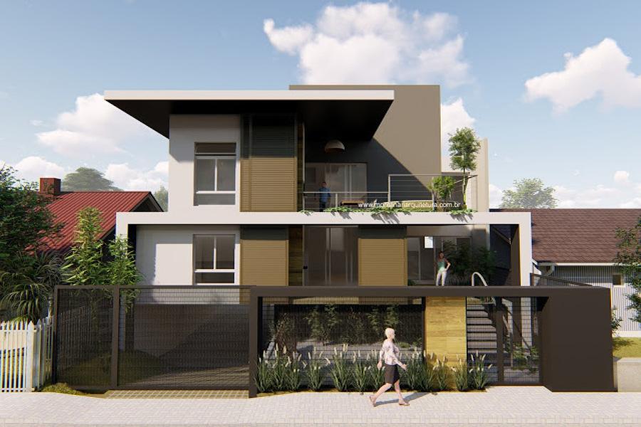 Casa grande em terreno pequeno