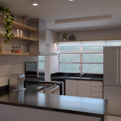Cozinha [Projeto 3D]