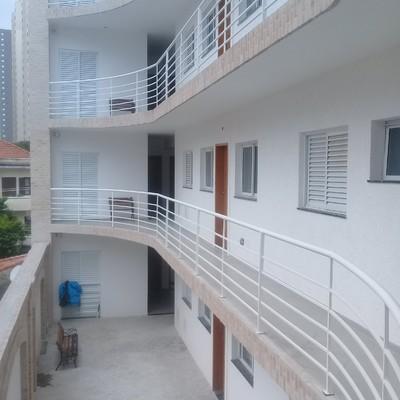 Vista lateral do prédio