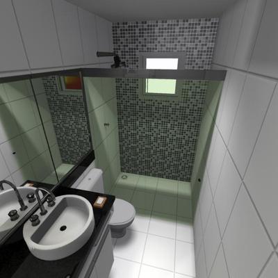 Banheiro com pia em granito