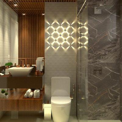 Projeto de Arquitetura e Interiores de Banheiro Social
