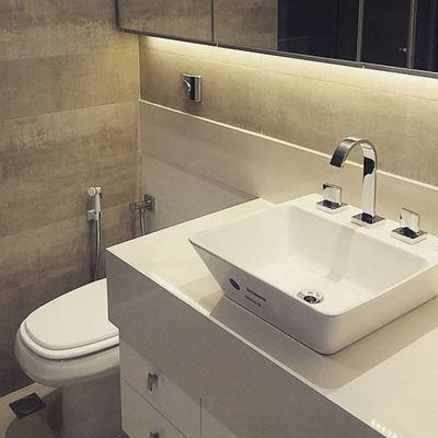 Banheiro revestimento concreto