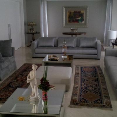 bela sala com piso aquecido