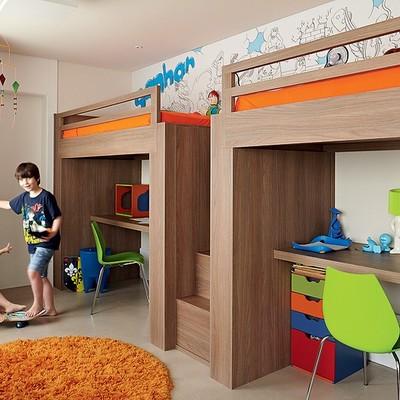 camas elevadas com escrivania